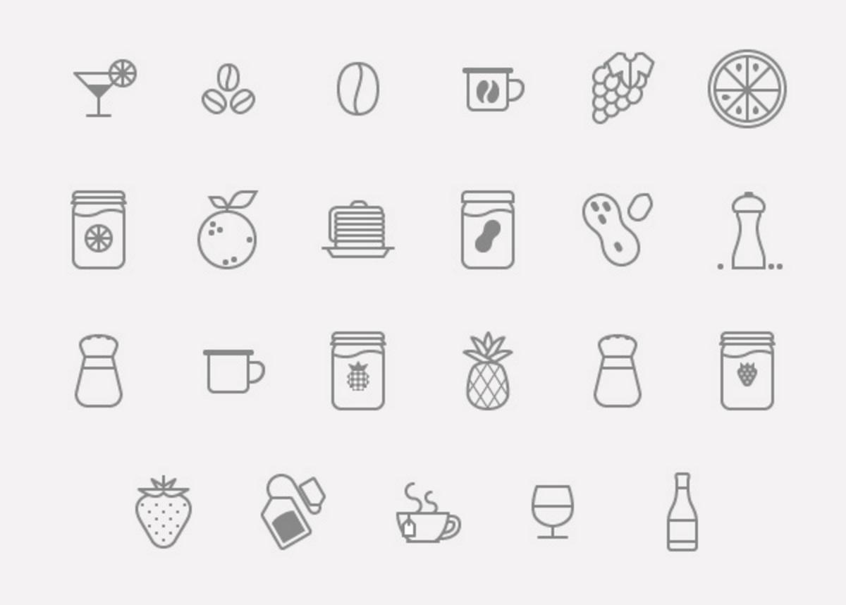 pack icons nourriture gratuit