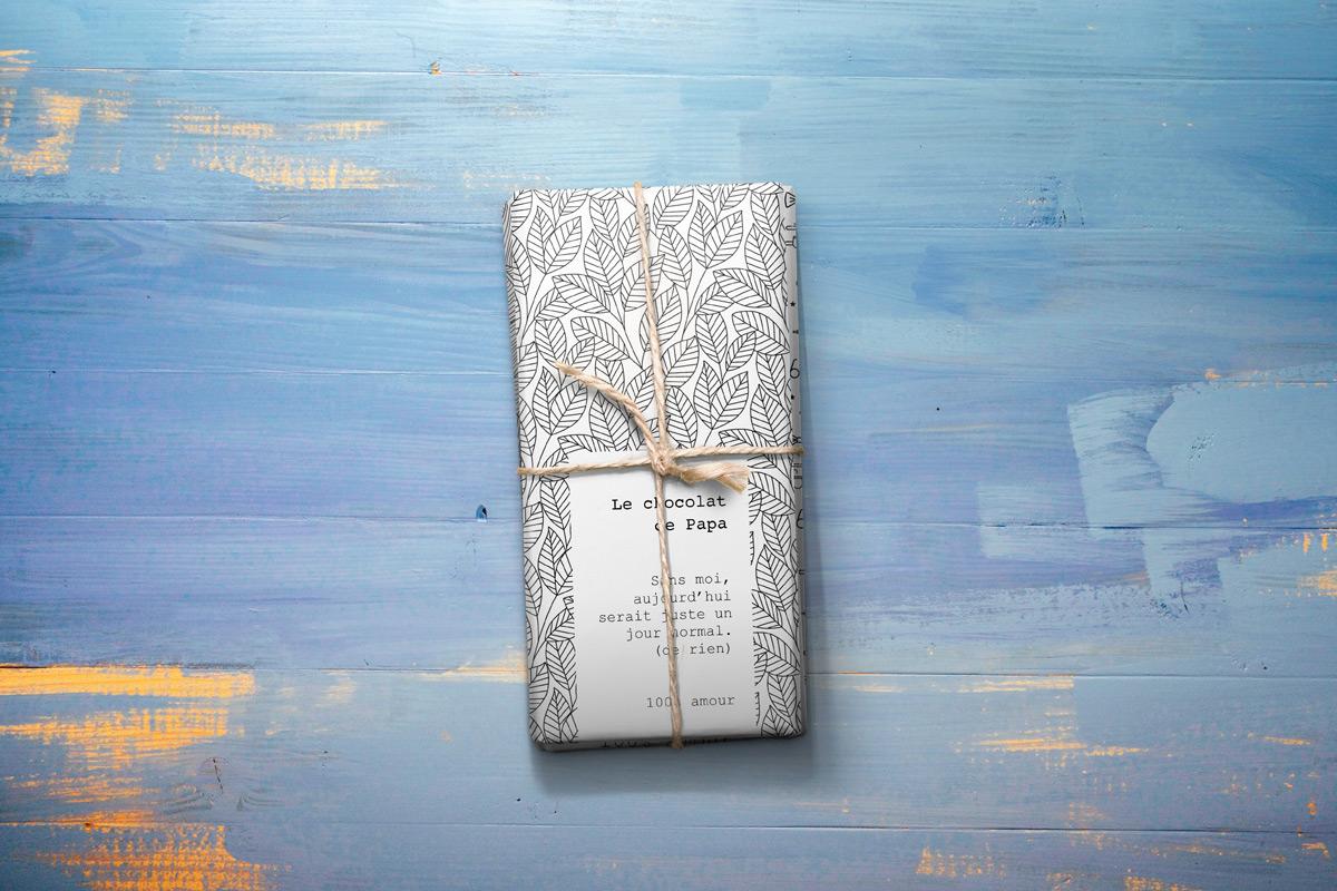 tablette de chocolat de la fete des peres